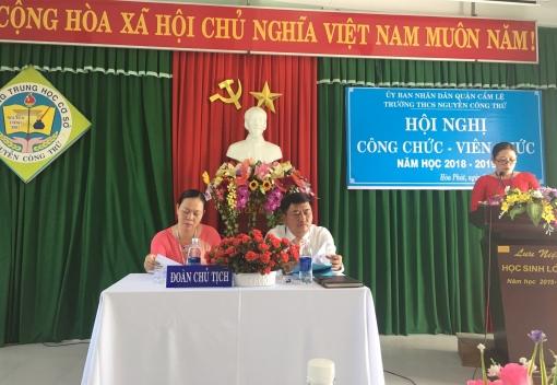Trường THCS Nguyễn Công Trứ: Hội nghị công chức, viên chức