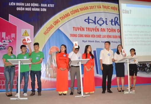 Hội thi tuyên truyền An toàn giao thông trong CNVCLĐ quận Ngũ Hành Sơn năm 2017