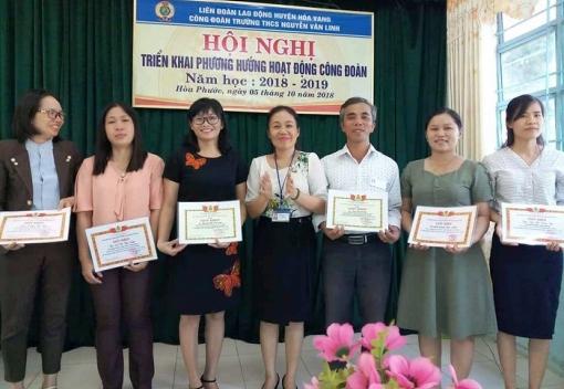 Trường THCS Nguyễn Văn Linh: hội nghị triển khai hoạt động Công đoàn