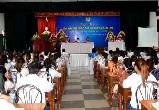 Công đoàn cơ sở Công ty  TNHH Kad Industrial S.A Việt Nam: Đại hội lần thứ III (Nhiệm kỳ 2017-2022)