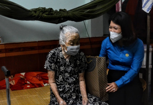 Thăm, tặng quà Mẹ Việt Nam Anh hùng, gia đình chính sách