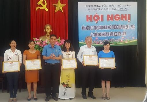 Hòa Vang: tổ chức tổng kết hoạt động Công đoàn khối trường học.