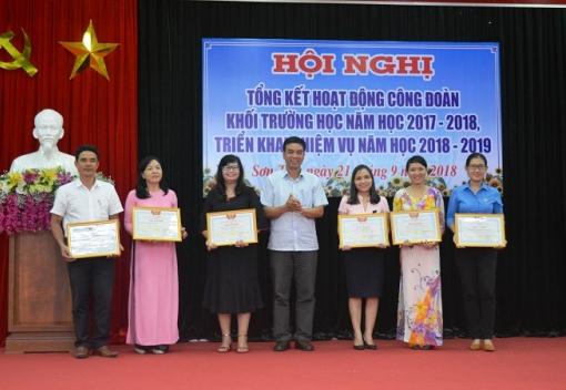 Sơn Trà: Tổng kết hoạt động Công đoàn khối trường học.