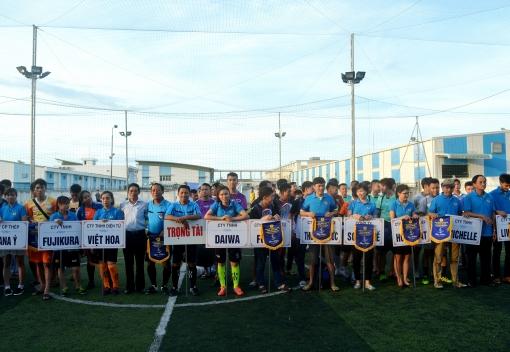CĐ các KCN&CX Đà Nẵng: Khai mạc Giải bóng đá CNLĐ lần thứ XI