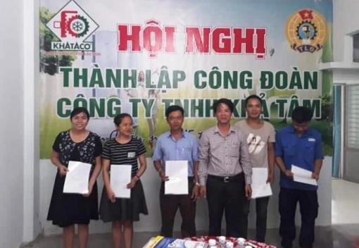 Liên Chiểu: thành lập Công đoàn cơ sở Công ty TNHH Khả Tâm