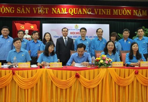 Tổng kết Cụm thi đua Liên đoàn Lao động 5 thành phố trực thuộc Trung ương
